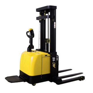 ELES-16/ELES-16T/ELES-20 1.6T 2T FORKOVER ELECTRIC STACKER MAX. LIFT HEIGHT 4M STAND ON TYPE